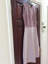 Matching Dress, Jacket & Coat - lilacy pink decorative red & blue stripes 10/12