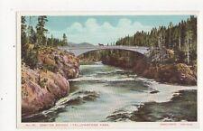 Canyon Bridge Yellowstone Park USA Vintage Postcard 316a