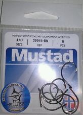 Mustad 39944-BN 1/0 Perfect Circle Inline Tournament Approved Fishing Hooks Qty8