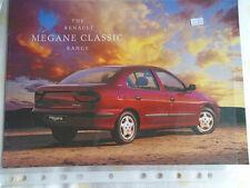 Renault Megane Classic range brochure Aug 1997