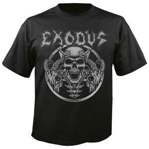 OFFICIAL LICENSED - EXODUS - HORNS SKULL T SHIRT THRASH METAL