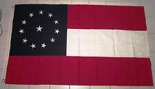 SEWN 12 Star 1st National Stars and Bars Flag, Southern American Civil War Flag