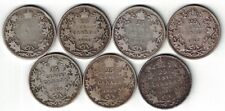 7 X CANADA TWENTY FIVE CENTS QUARTERS KING EDWARD VII SILVER COINS 1904 - 1910