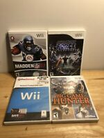 Wii LOT OF 4 Games - Star Wars Madden 07 Backyard Football & Cabelas -Family Fun
