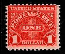 1931 US Scott #J87 - $1 Postage Due p. 10-1/2 x 11 Mint Never Hinged; SCV $52.50
