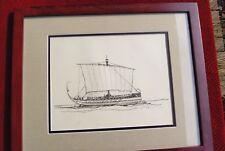 Gordon Grant Original Art (Signed Ink Drawing 1935) Greek Bireme