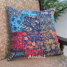 """16"""" Indian Cotton Home Decorative Kantha Pillow Cover Indian Cushion Pilow Cover"""