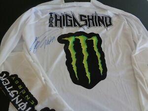 TAKA HIGASHINO Signed Jersey MOTOCROSS Racing X GAMES Supercross MEDIUM FreeShip