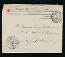 Red Cross Cover European Stamps
