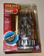 "MARVEL HASBRO IRON MAN 2 LIGHT-UP BASE HALL OF ARMOR COLLECTION ""MARK I"" NEW!"