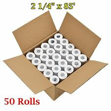 "50 Rolls Case 2 1/4"" x 85' Thermal Cash Register Credit Card Pos Receipt Paper"