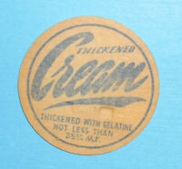 Old Milk Bottle Top Cream Scarce Nice Condition Blue Print