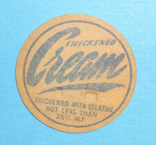 Old Milk Bottle Top Cream Scarce Nice Condition Blue Print
