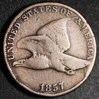 1857 FLYING EAGLE CENT - GOOD