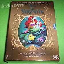 LA SIRENITA DISNEY TRILOGIA EN DVD PACK NUEVO Y PRECINTADO