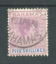 Bahamas KGVI 1938-52 5s lilac & blue SG156 fine used (FDI)