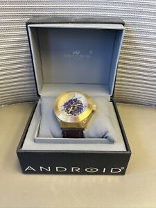 Android Men's AD651 Tattooed Dragon Automatic Skeletonized Watch Looks Great WOW