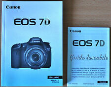 Genuine Canon EOS 7D User / Instruction Manual EOS7D - ITALIAN / ITALIANO - NEW