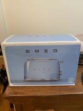New listing Smeg 50's Retro Style Aesthetic 2-Slice Toaster - Pastel Blue