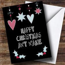 Ornamentos colgantes tarjeta de Navidad Personalizado
