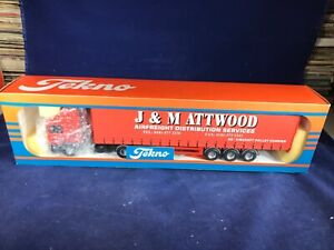 N-39 TEKNO 1:50 SCALE TRACTOR TRAILERS (PLASTIC) - J.&M. ATTWOOD AIRFREIGH - NIB