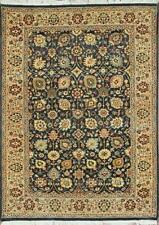 Traditional Hand-Knotted Modern Persian Area Rugs Blue/Beige Color Size (4 x 6)