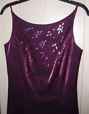 BEAUTIFUL DEBUT BURGUNDY SEQUINED BEADED PROM DRESS AND SHAWL, SIZE 10