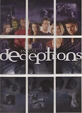 """Angel Season 4 - """"Deceptions"""" Set of 9 Puzzle Chase Cards #D1-9"""