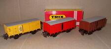 Trix Express 3408, 3409, 3453 - drei Güterwagen G10, neuwertig!