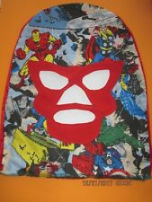 Pro Wrestling Pull-On Comic Book Characters Red Face Mask Angel's Wrestling Wear