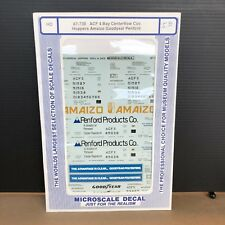 HO MICROSCALE DECAL 87-730  ACF 4 BAY CENTERFLOW HOPPERS AMAIZO GOODYEAR