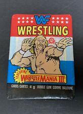 Wrestlemania III Unopened Wax Pack