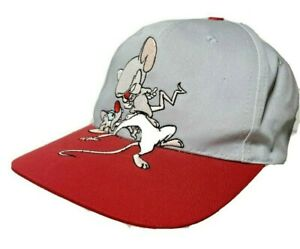 1995  Warner Bros Animaniacs Pinky And The Brain Snapback Trucker Hat NOS