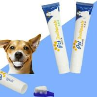 1x Edible Dog Puppy Cat Toothpaste Teeth Cleaning Care Oral Hygiene ToothbY1S1