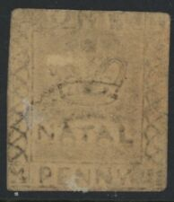 Natal, Used, #7, One Penny, Very Scarce, Sound & Centered