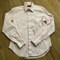 Ralph Lauren Sport Womens Pink White Stripe Shirt Blouse Size 8UK