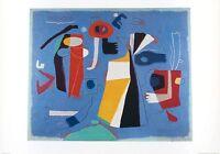 Willi Baumeister Szene in Blau Poster Kunstdruck Bild 70x100cm