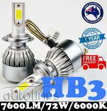 HB3 9005 72W 7600LM LED White 6000k Halogen Car Headlight Xenon Globe Bulb HID