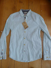 Men's Collared Long Sleeve Striped Linen Casual Shirts & Tops