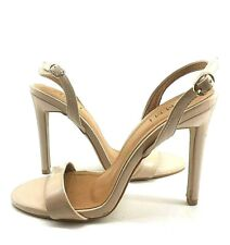 SIMMI London Ladies Heels UK 5 Beige Sandal Nude Patent High Bare Open Toe