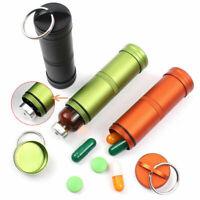 Wasserdichte große Aluminium Pille Box Fall Flaschenhalter Kit Set * J7J5 P0W5