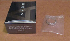Avon - Sterling Silver Zircon Classic Band Ring - Size 6