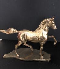 Vintage Brass Prancing Horse Figure 7 3/4�
