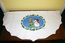 Snowman Tree Skirt By Morehead Felt Snowman W/ Raccoon & Birds