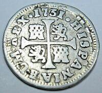 foto de 1721 SPAIN King Philip V Antique Genuine Spanish Arms 2Reales ...