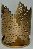 Bath & Body Works 4 Gold Leaves 3 Wick Candle Sleeve Holder