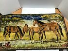 Vintage Horse horses colt Tapestry 37x20 inch  Wall Hanging Rug