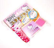 HELLO KITTY 2013 Sanrio  ink stamp set misb - timbro stampino set nuovo kawaii