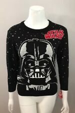 NWT Star Wars Darth Vader Black Sweater With Sound Juniors Youth Size S