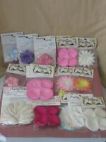 Vintage fabric flower making millinery lot